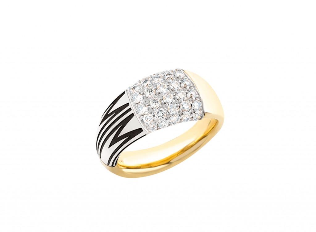MIMI Anillo TAM TAM Big Oro Amarillo y Diamantes