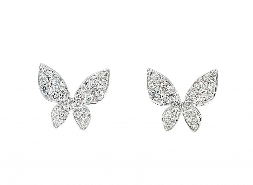 MIMI Aretes Farfalla Oro Blanco y Diamantes