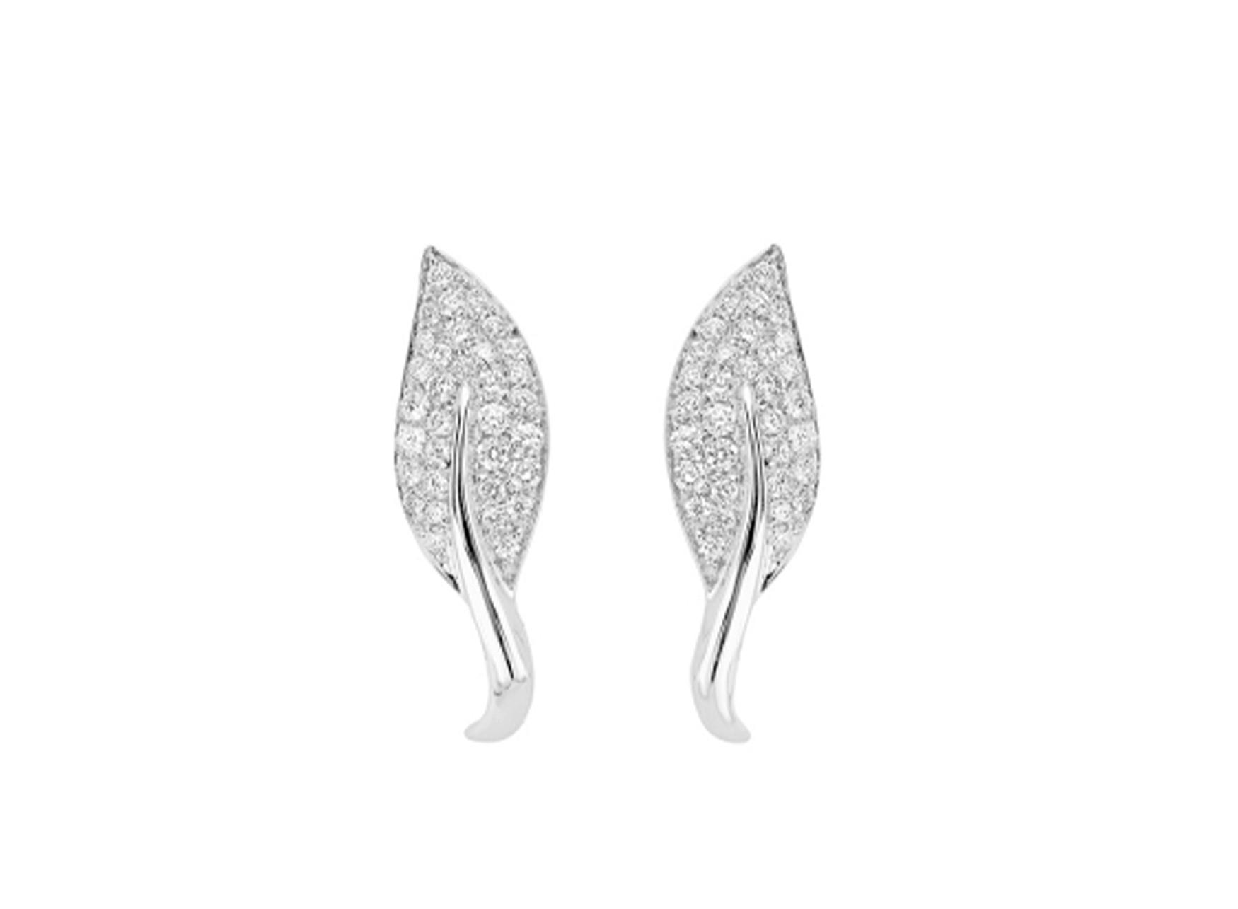 MIMI Aretes Foglia Diamantes