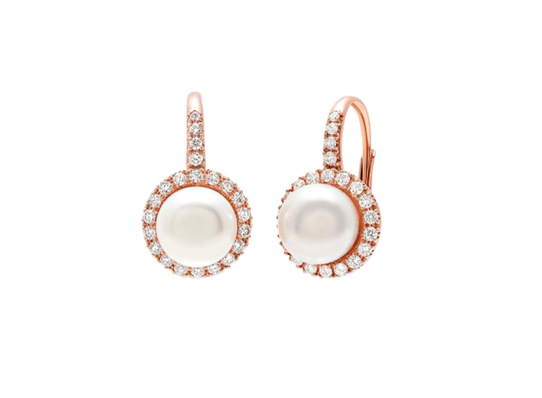 MIMI Aretes Happy Perlas y Diamantes