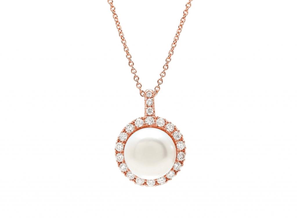 MIMI Pendiente Happy - Perla y Diamantes